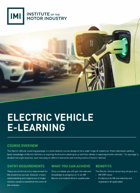 New IMI EV online training partnership