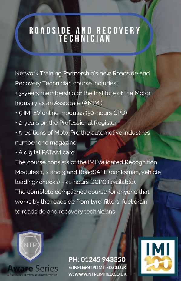IMI L3 Roadside and Recovery Technicians Course development