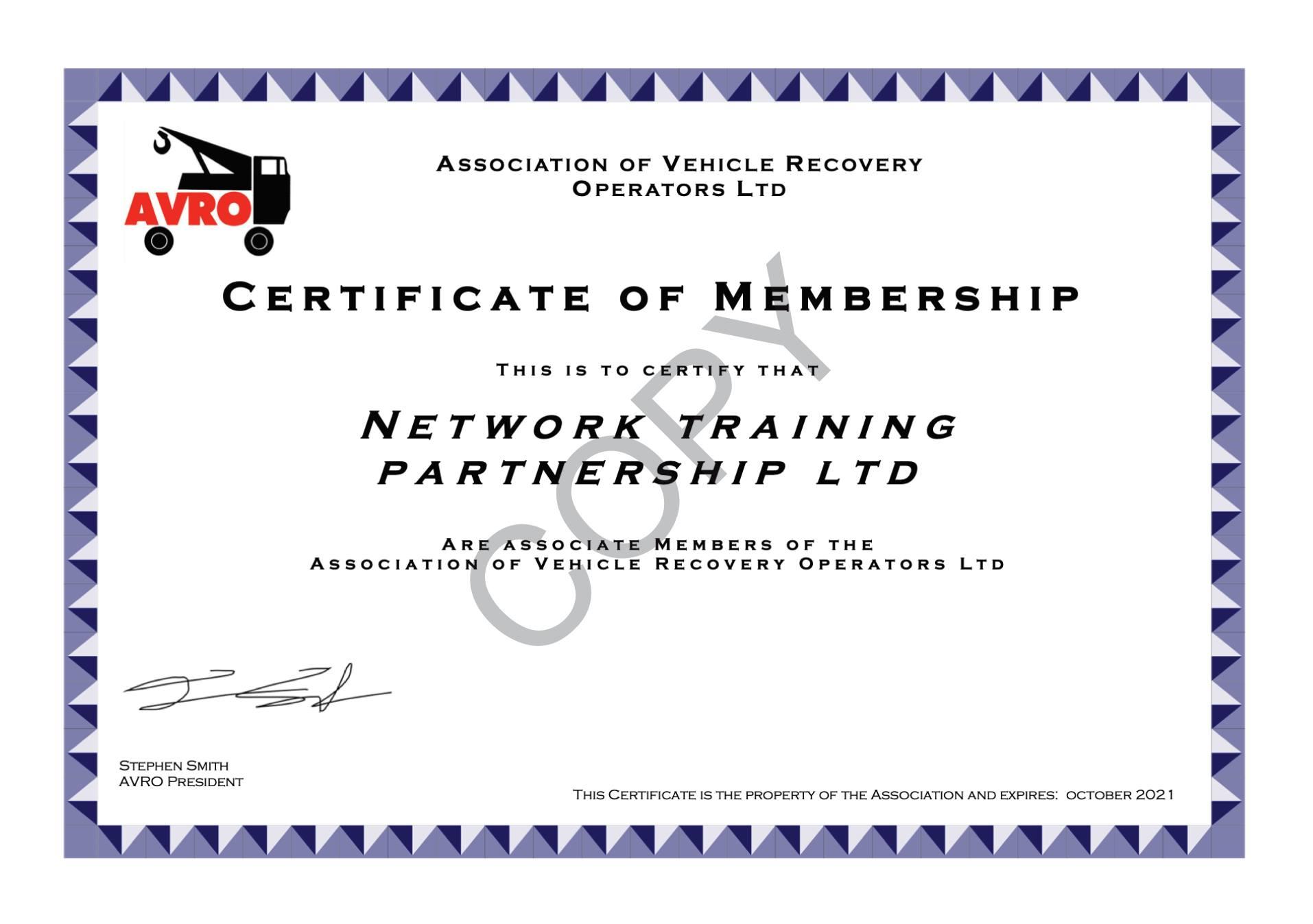 NTP joins AVRO as Associate Members